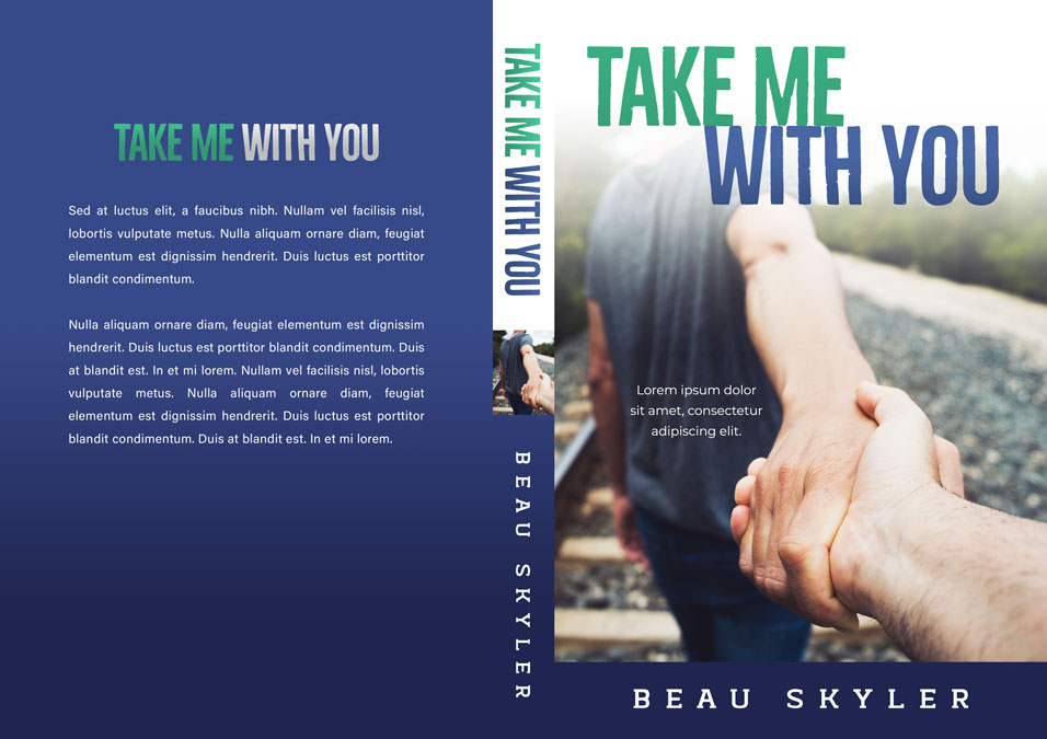 Take Me With You - Gay Contemporary Romance Premade Book Cover For Sale @ Beetiful Book Covers