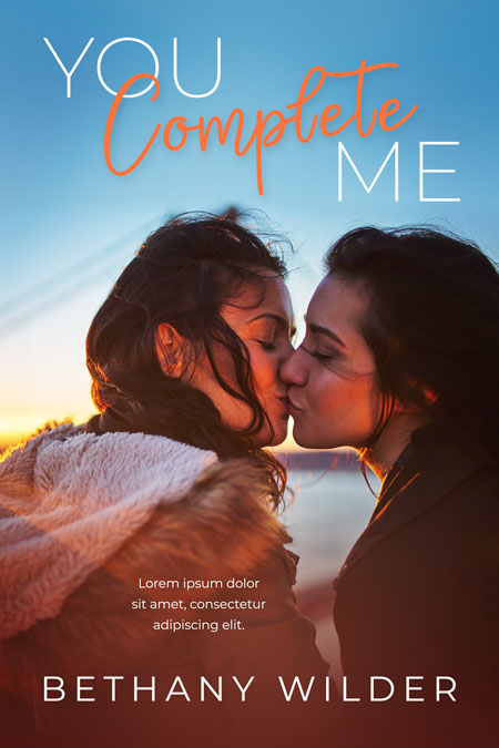 You Complete Me - Lesbian Contemporary Romance Premade Book Cover For Sale @ Beetiful Book Covers
