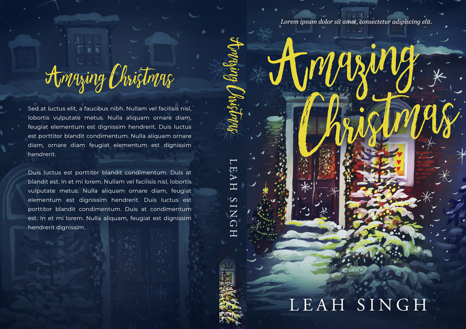 Amazing Christmas - Christmas Fiction Premade Book Cover For Sale @ Beetiful Book Covers