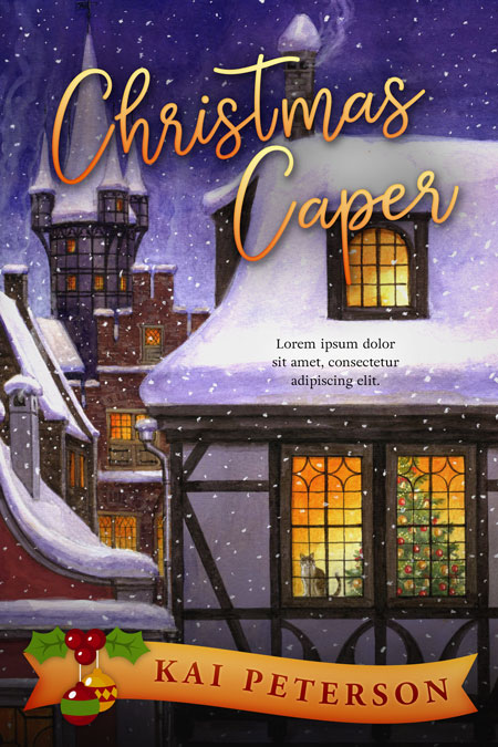 Christmas Caper - Christmas Cozy Mystery Premade Book Cover For Sale @ Beetiful Book Covers