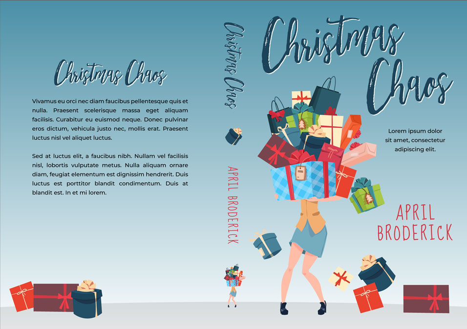 Christmas Chaos - Illustrated Christmas Premade Book Cover For Sale @ Beetiful Book Covers