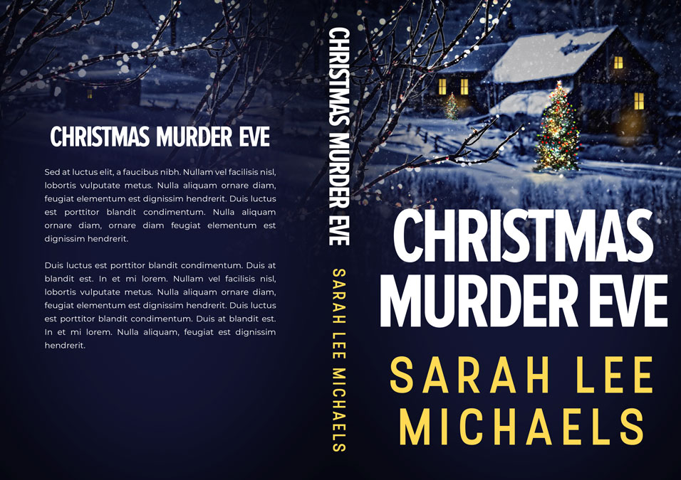 Christmas Murder Eve - Christmas Mystery Premade Book Cover For Sale @ Beetiful Book Covers