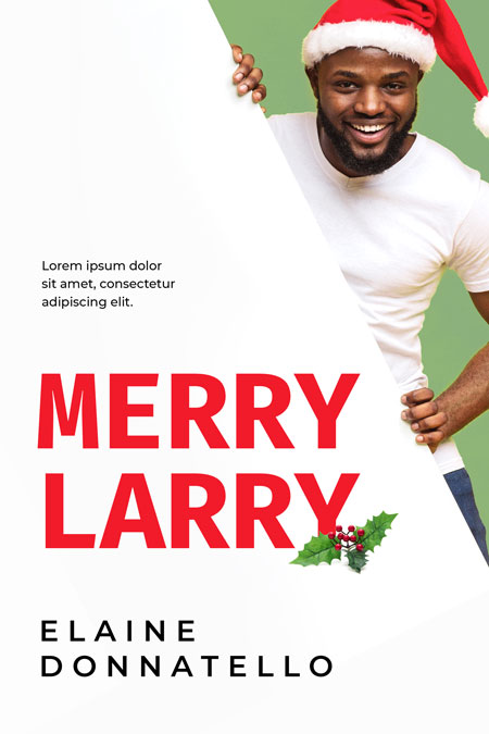 Merry Larry - African-American Christmas Premade Book Cover For Sale @ Beetiful Book Covers