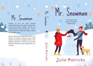 Mr. Snowman - Illustrated Christmas Premade Book Cover For Sale @ Beetiful Book Covers