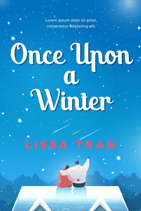 Once Upon a Winter - Illustrated Winter Romance Premade Book Cover For Sale @ Beetiful Book Covers