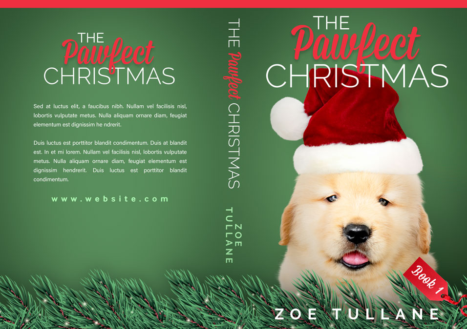 Series: The Pawfect Christmas - Christmas Series Premade Book Covers For Sale - Beetiful