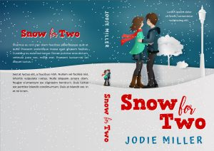 Snow For Two - Illustrated Winter Romance Premade Book Cover For Sale @ Beetiful Book Covers