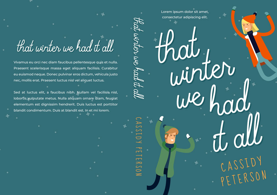 That Winter We Had It All - Illustrated Winter Romance Premade Book Cover For Sale @ Beetiful Book Covers