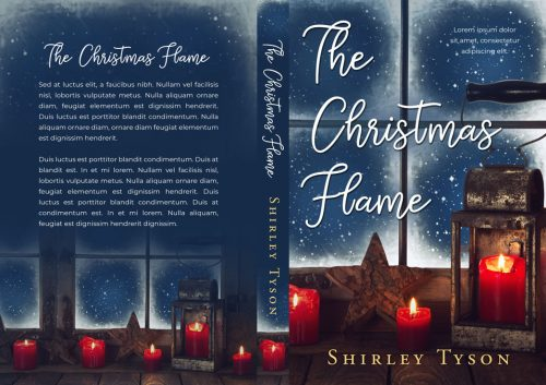 The Christmas Flame - Christmas Fiction Premade Book Cover For Sale @ Beetiful Book Covers