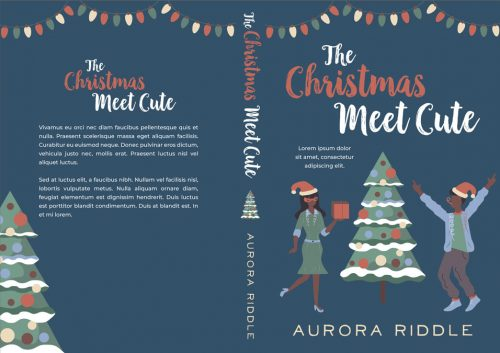 The Christmas Meet Cute - Illustrated Christmas African-American Romance Premade Book Cover For Sale @ Beetiful Book Covers