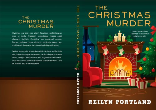 The Christmas Murder - Christmas Cozy Mystery Premade Book Cover For Sale @ Beetiful Book Covers