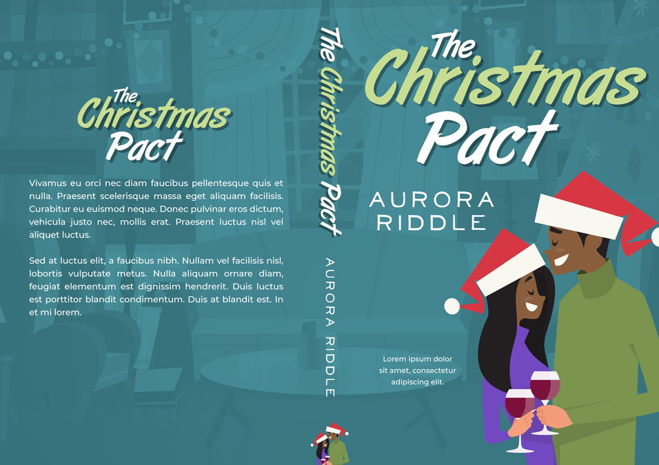 The Christmas Pact - Illustrated Christmas African-American Chick-Lit Premade Book Cover For Sale @ Beetiful Book Covers