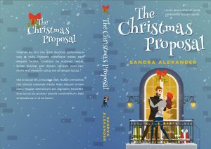 The Christmas Proposal - Illustrated Winter Romance Premade Book Cover For Sale @ Beetiful Book Covers