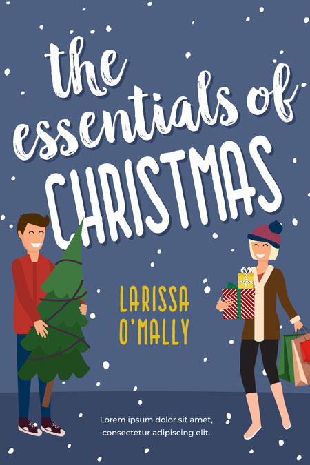 The Essentials of Christmas - Illustrated Christmas Romance Premade Book Cover For Sale @ Beetiful Book Covers