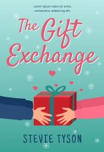The Gift Exchange – Illustrated Winter Romance Premade Book Cover For Sale @ Beetiful Book Covers