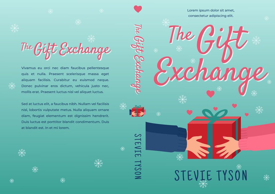 The Gift Exchange - Illustrated Winter Romance Premade Book Cover For Sale @ Beetiful Book Covers