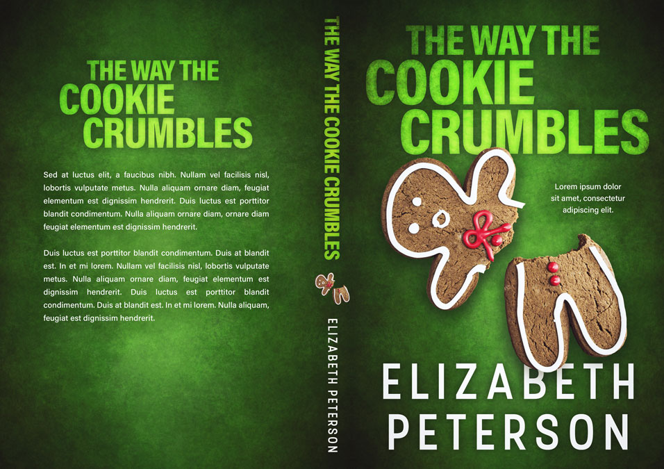The Way the Cookie Crumbles - Christmas Cozy Mystery Premade Book Cover For Sale @ Beetiful Book Covers