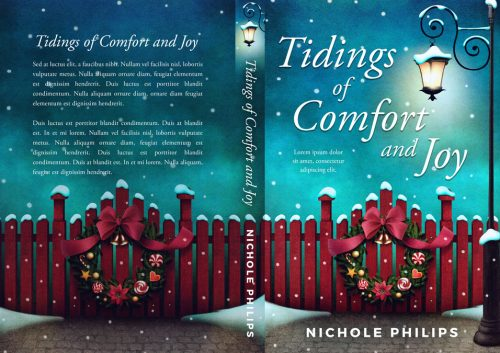 Tidings of Comfort and Joy - Christmas Fiction Premade Book Cover For Sale @ Beetiful Book Covers