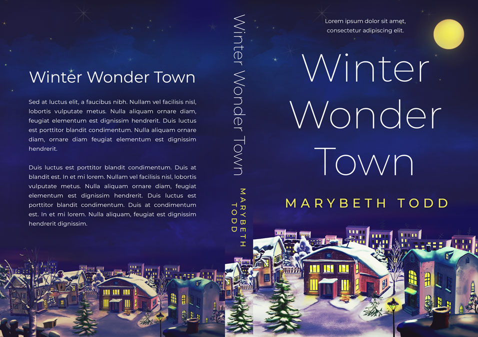 Winter Wonder Town - Christmas Fiction Premade Book Cover For Sale @ Beetiful Book Covers