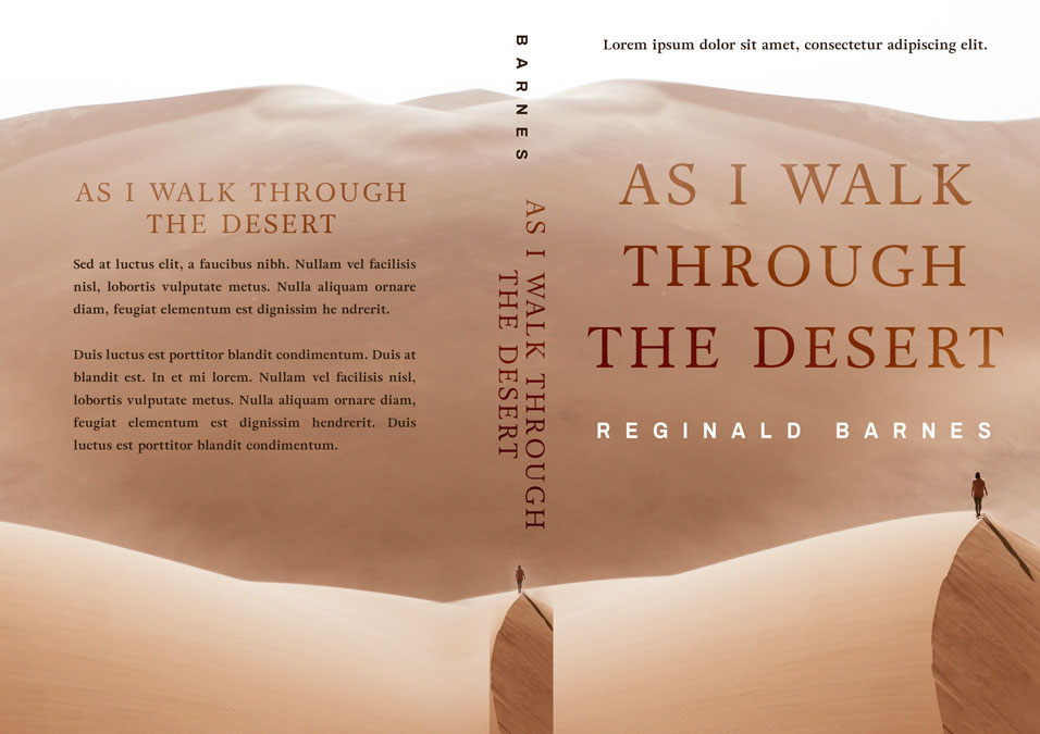 As I Walk Through the Desert - Literary Fiction Premade Book Cover For Sale @ Beetiful Book Covers