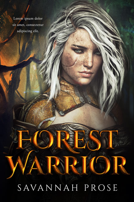 Forest Warrior - Fantasy Premade Book Cover For Sale @ Beetiful Book Covers