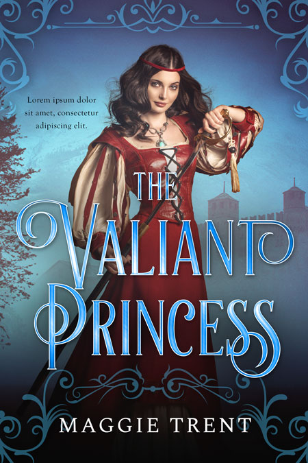 The Valiant Princess - Young Adult Fantasy Premade Book Cover For Sale @ Beetiful Book Covers