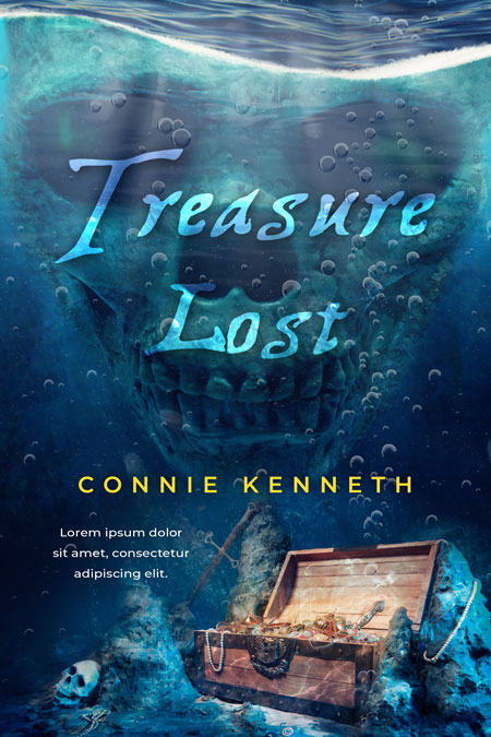 Treasure Lost - Sea Adventure Premade Book Cover For Sale @ Beetiful Book Covers
