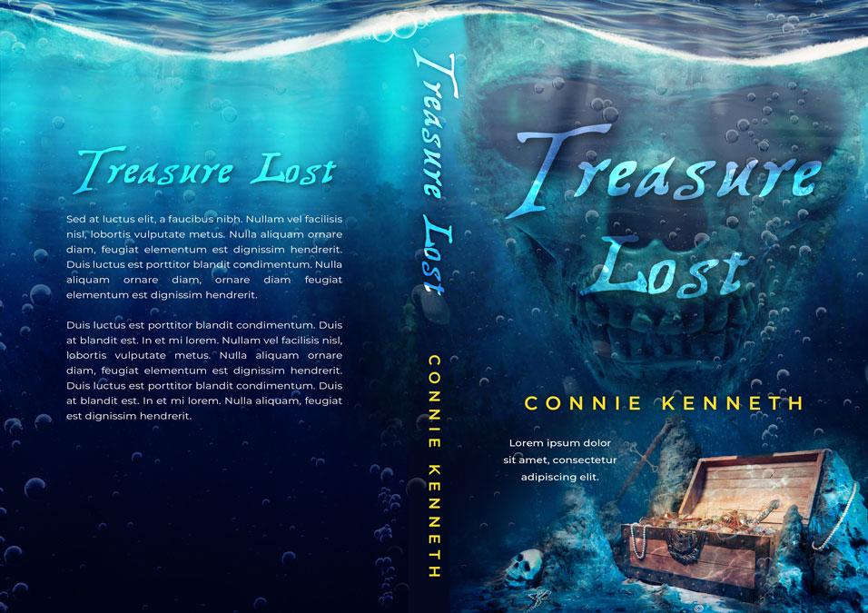 Treasure Lost - Sea Adventure Premade Book Cover For Sale @ Beetiful Book Covers