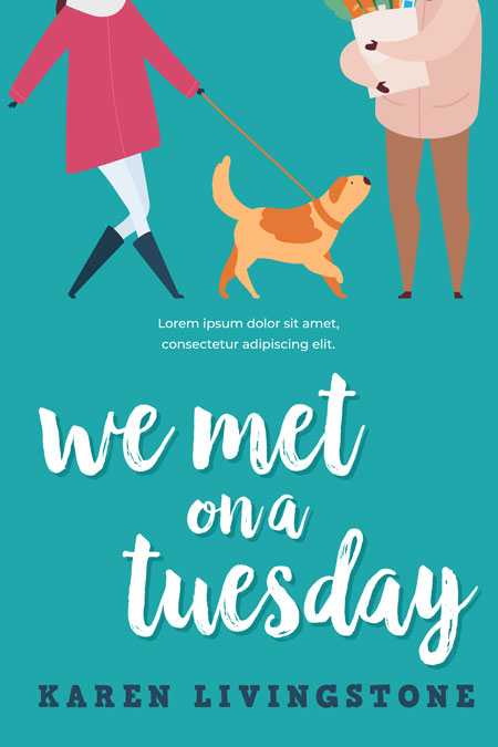 We Met On a Tuesday - Chick-lit Romance Premade Book Cover For Sale @ Beetiful Book Covers