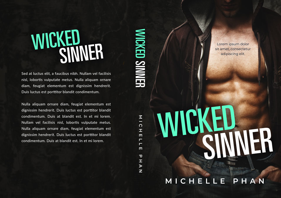 Wicked Sinner - Romance Premade Book Cover For Sale @ Beetiful Book Covers