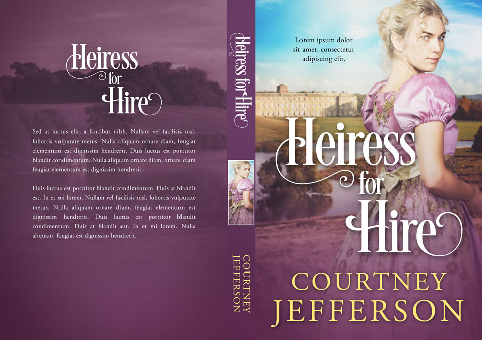Heiress for Hire - Historical Romance Premade Book Cover For Sale @ Beetiful Book Covers