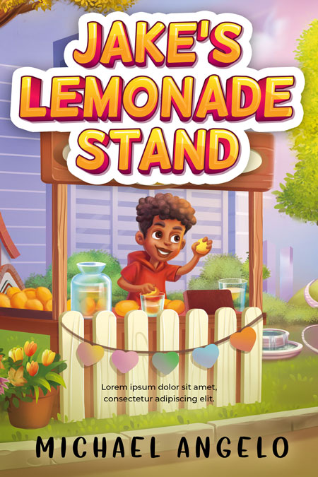 Jake's Lemonade Stand - Middle-grade Premade Book Cover For Sale @ Beetiful Book Covers