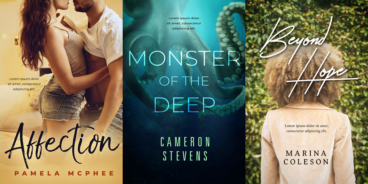 62 New Premade Book Covers in Various Genres