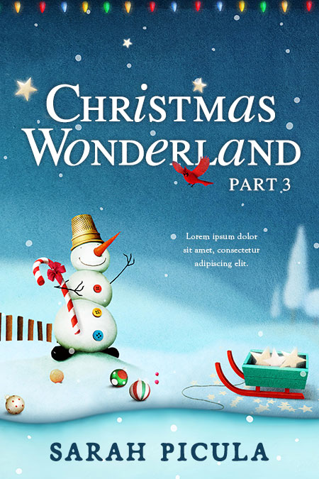 Series: Christmas Wonderland - Christmas Series Premade Book Covers For Sale - Beetiful Book Covers
