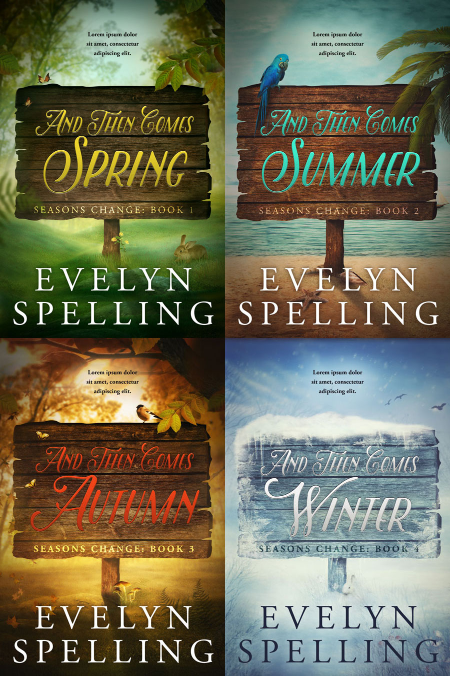 Series: Seasons Change - Season Quartet Series Premade Book Covers For Sale - Beetiful