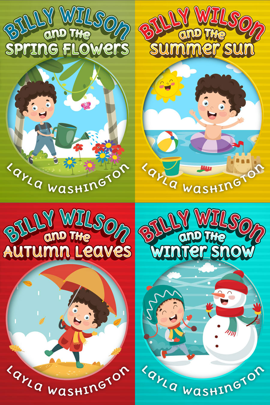 Series: Seasons with Billy Wilson - Illustrated Chapter Book Series Premade Book Covers For Sale - Beetiful Book Covers