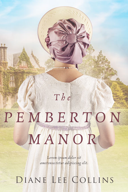The Pemberton Manor - Regency Historical Romance Premade Book Cover For Sale @ Beetiful Book Covers