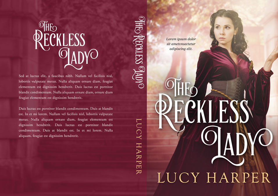 The Reckless Lady - Historical Romance Premade Book Cover For Sale @ Beetiful Book Covers