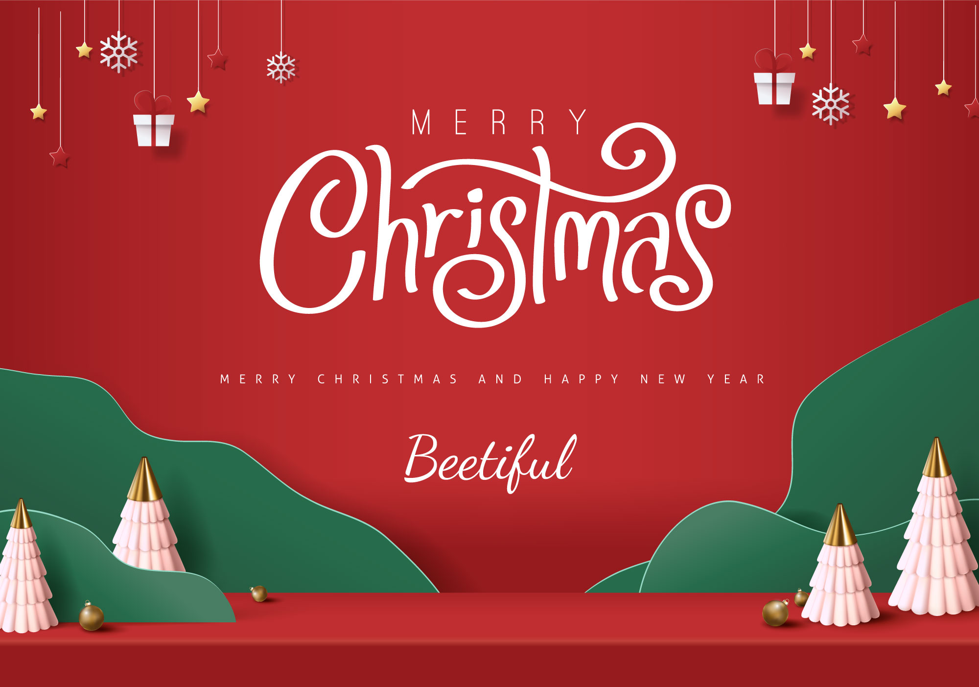 Merry Christmas and Happy New Year - From Beetiful
