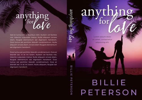 Anything For Love - Disabled Romance Premade Book Cover For Sale @ Beetiful Book Covers
