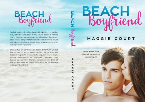 Beach Boyfriend - Young Adult Contemporary Romance Premade Book Cover For Sale @ Beetiful Book Covers