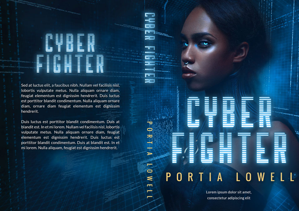 Cyber Fighter - African-American Science Fiction Premade Book Cover For Sale @ Beetiful Book Covers