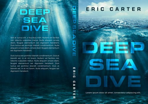 Deep Sea Dive - Ocean Thriller Premade Book Cover For Sale @ Beetiful Book Covers