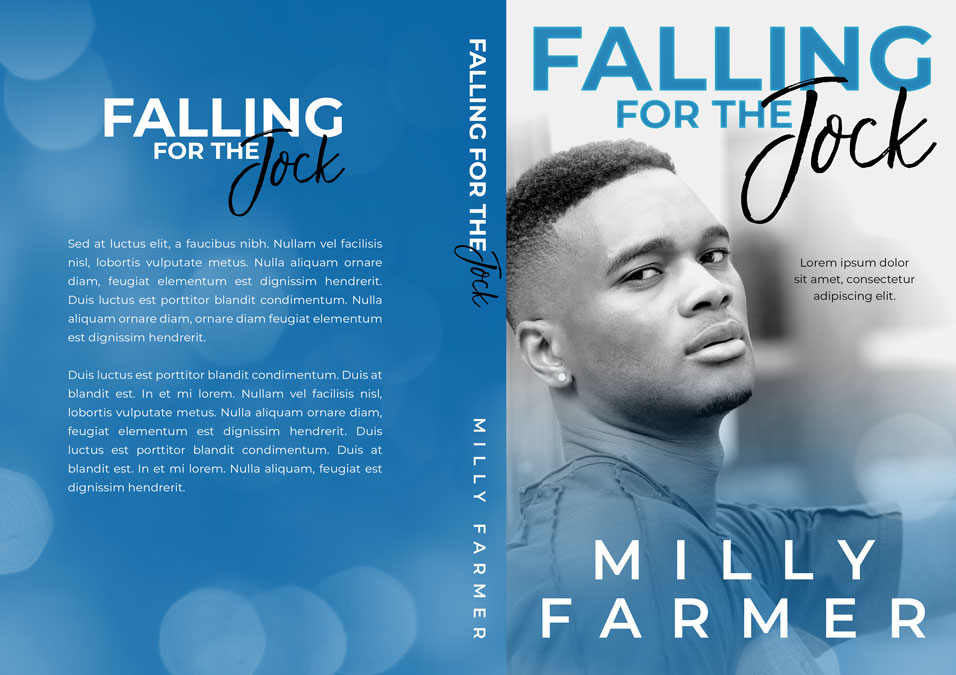 Falling For the Jock - African-American Young Adult Fiction Premade Book Cover For Sale @ Beetiful Book Covers