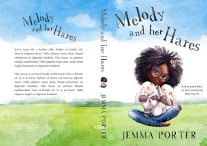 Melody and her Hares - African-American Illustrated Children's Book Cover For Sale @ Beetiful Book Covers