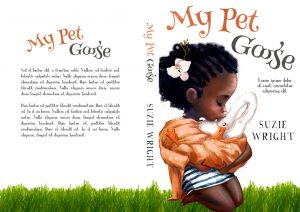 My Pet Goose - African-American Illustrated Children's Book Cover For Sale @ Beetiful Book Covers
