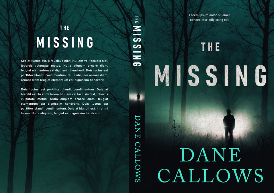 The Missing - Mystery, Suspense, Thriller Premade Book Cover For Sale @ Beetiful Book Covers