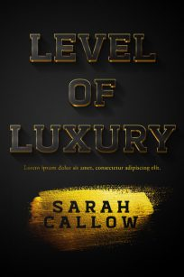 Level of Luxury - Typography / Text Effect Premade Book Cover For Sale @ Beetiful Book Covers