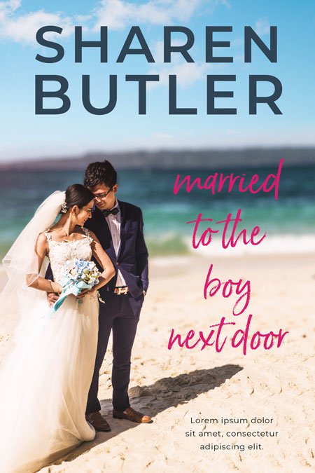 Married to the Boy Next Door - Asian Contemporary Romance Premade Book Cover For Sale @ Beetiful Book Covers