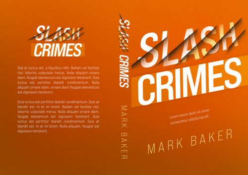 Slash Crimes - Slash Text Effect, Thriller Premade Book Cover For Sale @ Beetiful Book Covers